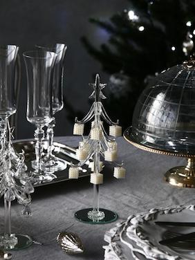 ガラスクリスマスツリーwithギフト24cm