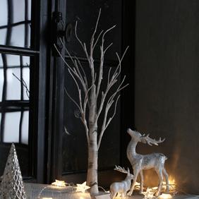 ホワイトブランチライトツリー 120cm
