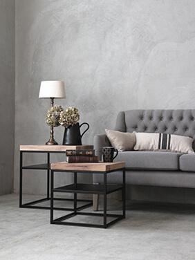 sofa domeアイアンサイドテーブルトップオールウッドスクエア
